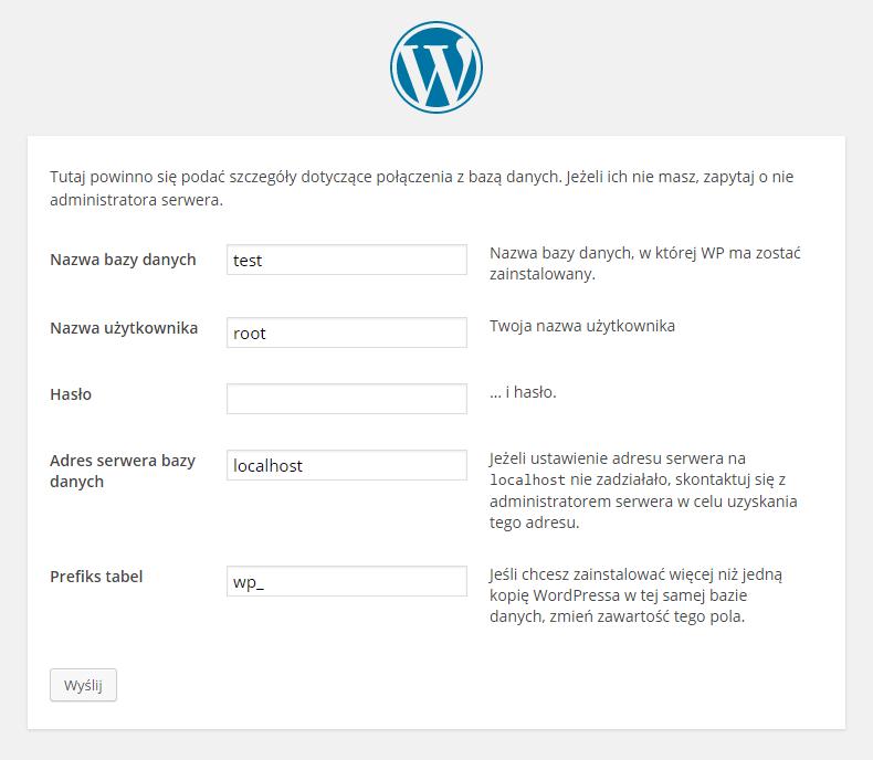 Łączenie WordPressa zbazą danych.
