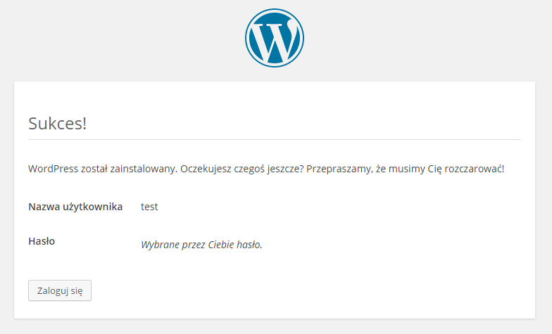 Instalacja CMS WordPress.