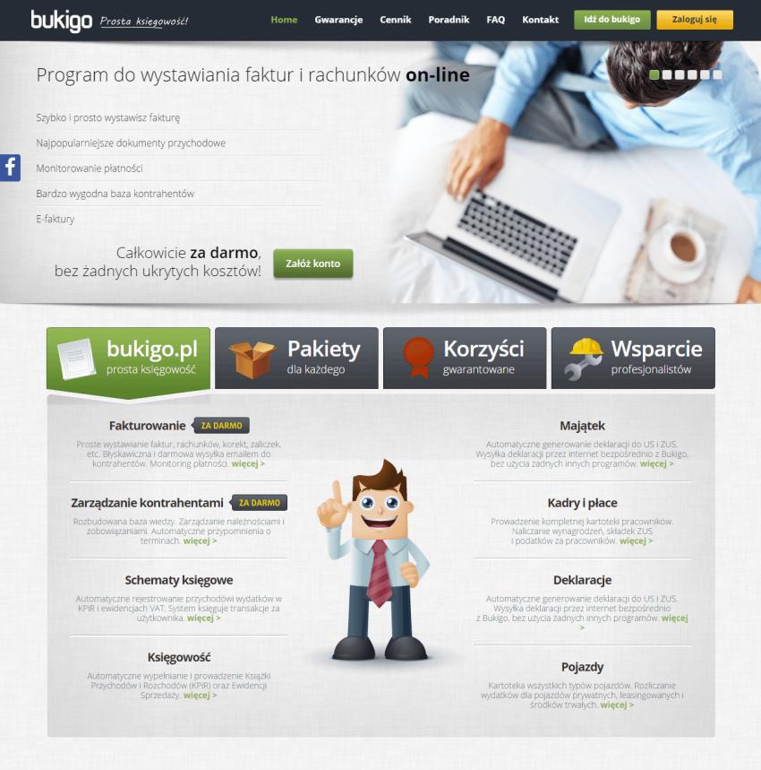 Serwis internetowy Bukigo.