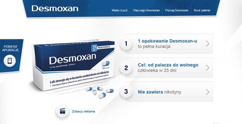 Strona internetowa Desmoxan.