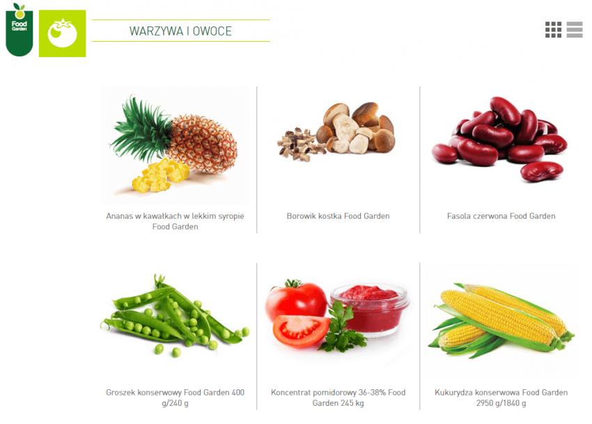 Food Garden dystrybutor produktów żywieniowych.