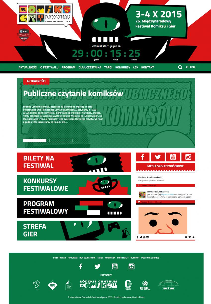 Komiks Festiwal Międzynarodowemu Festiwalu Komiksu iGier.