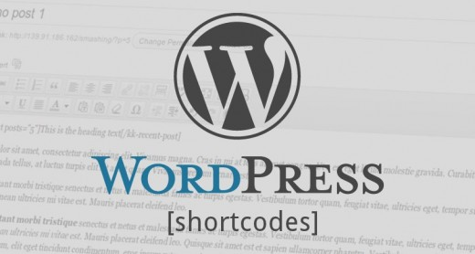 WordPress Shortcode minikod.